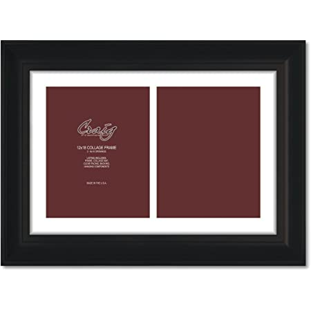 Craig Frames Driftwood 1.5 Wide 8x12 Inch Weathered Black Picture Frame Set of Two 15DRIFTWOODBK0812L-2