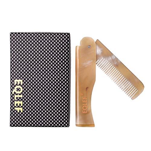 Yak Horn klappbarer Bartkamm Taschenkamm tragbare Taschenkamm aus Yak Horn