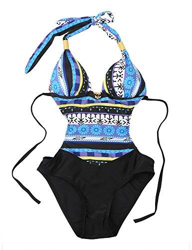 heekpek Costume da Bagno Donna Costumi Interi Donna One Piece Costumi da Bagno Push Up Bohemian Piscina Swimsuits Beachwear