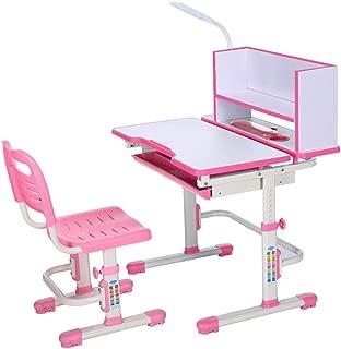 Kids Desk and Chair Set Desk Chair Set Multi-functional Desk And Chair Set Childen Kids Study Table School Student Desk Book Stand Height Adjustable  Color Pink