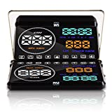 Pyle Universal 5.5'' Car HUD Head-Up Display Windshield Screen Projector Vehicle Speed & Diagnostic Monitor System...