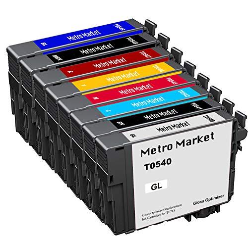 Metro Market 8 Stücke Kompatible Patronen Druckerpatronen Kompatibel für Epson Stylus Photo R800 R1800 T0540 T0541 T0542 T0543 T0544 T0547 T0548 T0549