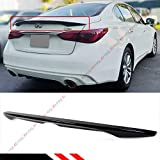 Cuztom Tuning Fits for 2014-2020 Infiniti Q50 JDM VIP Style Painted Glossy Black Trunk Lid Spoiler Wing