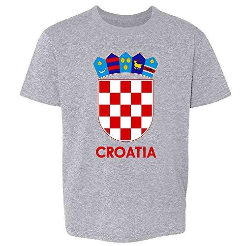 Croatia Soccer National Team Football Crest Retro Sport Grey M Youth Kids Girl Boy T-Shirt