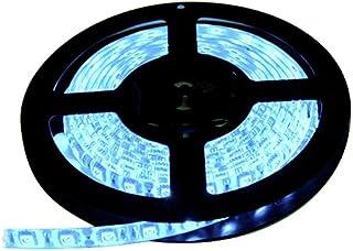 LEDテープライト 12V 防水 両端子 5メートル 3チップ (アイスブルー色/白ベース)