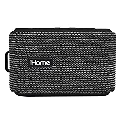iHome iBT370V2GBC Bluetooth Portable Water Resistant Speaker GR/BK