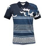 NEIL BARRET C7182 Polo Maglia Uomo Blu Slim Fit t-Shirt Men [S]