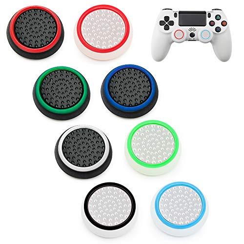 Thumbstick Grip Kappen,8pcs PS4 Joystick Kappen,Silikon Kappen Analogstick Aufsätze Schutzkappen Passend Für PS4-Dualshock Controller,PS3,Xbox ONE,ONE S,Xbox 360