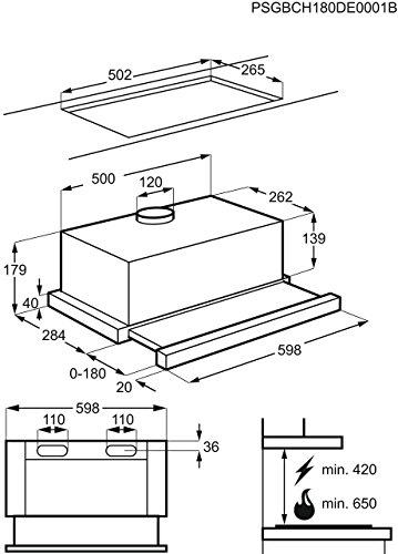 AEG DPB2621S Flachschirm-Dunstabzugshaube - 5