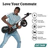 "GOTRAX GXL V2 Commuting Electric Scooter - 8.5"" Air Filled Tires - 15.5MPH & 9-12 Mile Range - Version 2 (Black)"