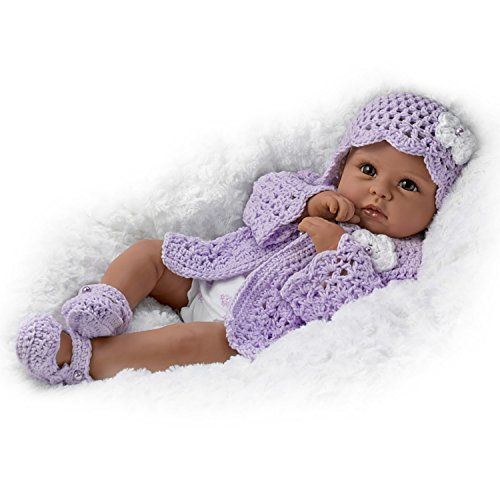 The Ashton-Drake Galleries Tiana Goes to Grandma's So Truly Real Lifelike & Realistic Weighted African-American Newborn Baby Doll 18-inches