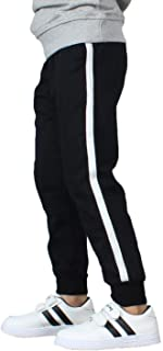 BASELE Boy's Fashion Casual Cotton Sweatpants Slim Fit Athletic Drawstring Jogger Pants