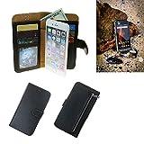 K-S-Trade® Für Caterpillar Cat S31 Schutz Hülle Portemonnaie Case Phone Cover Slim Klapphülle Handytasche Schutzhülle Handyhülle Schwarz Aus Kunstleder (1 STK)