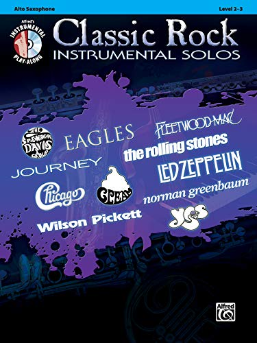 Classic Rock Instrumental Solos: Alto Sax, Book & CD (Pop Instrumental Solo Series)