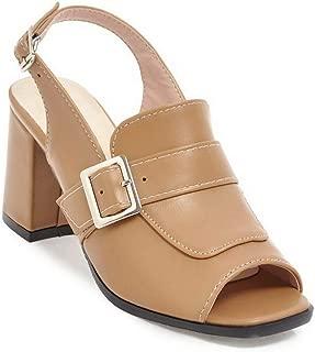 BalaMasa Womens ASL06382 Pu Block Heels