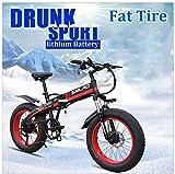 Bicicletas Eléctricas, Montaña bicicleta eléctrica for las mujeres Hombre 350W de 7 velocidades City adulto conmutan bicicletas eléctricas 36V 10Ah extraíble Batttery 26 4.0 Fat Tire con pantalla LC
