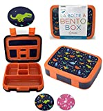 Dinosaur Bento Lunch Box for Boys Toddlers, 5 Portion Sections Leakproof Lid, Microwave Safe BPA...