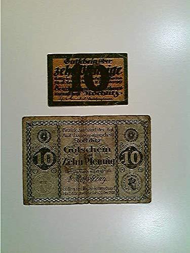 Notgeld Rochlitz, 2x 10 Pfennig, 1918/1919