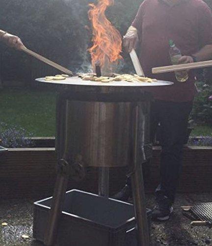 51jqh6p4RcL. SL500  - Kette´s Grillzubehör Fireplate/Grillplatte/BBQ-Platte/für Kugelgrills oder Feuertonnen (Feuertonnen)