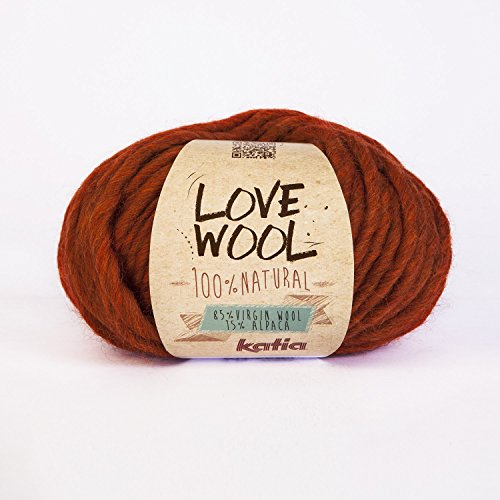 Love Wool, dickes Dochtgarn von Katia in orange (114)