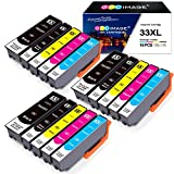 GPC Image 33XL Ink Cartridges Compatible for Epson 33 XL 33XL Multipack for Epson Expression Premium XP-900 XP-540 XP-640 XP-530 XP-635 XP-645 XP-830 XP-630 XP-7100 (15-Pack)