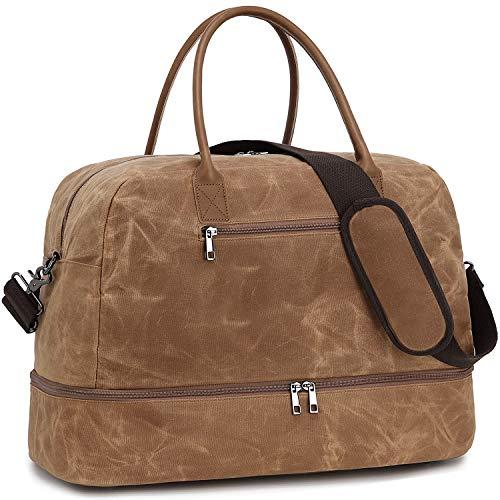 LEDAOU Women's Travel Bag Weekender Bag with Shoe Compartment Handbag Sports Bag