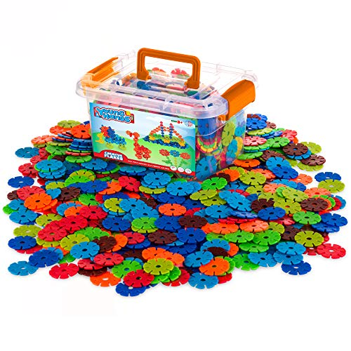 Creative Kids Flakes - 600 Piece Interlocking Plastic Disc Set for Fun, Creative...
