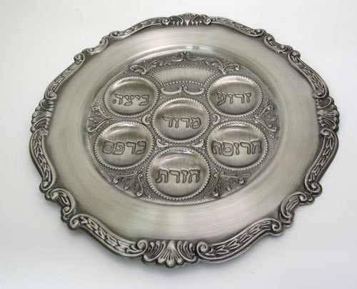 Judaica Popular shop Award is the lowest price challenge Passover Seder Plate Pewter
