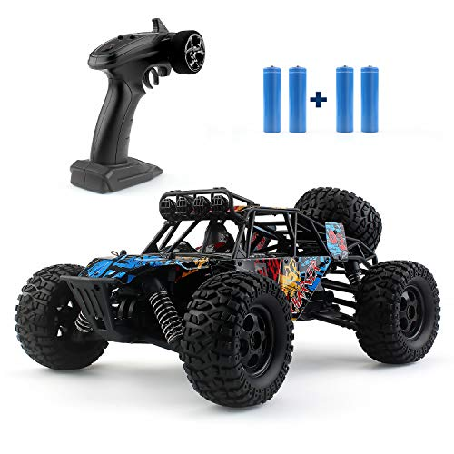 JJRC Remote Control Car,36km/h High-Speed Crawlers Off-Road Vehicle Toys, 1:16 Scale RC Off-Road Truck with 2 Batteries, RC Monster Hobby Truck Buggy, RC Electric Toy Car for All Adults & Kids(G173)