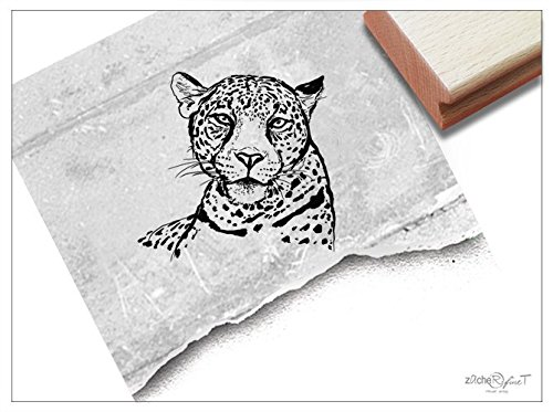 Stempel – Rubber stempels Cheetah Hoofd Tekening Picture Stamp Animal Stamp School Werk, Kaarten Servetten Schilderen Ontwerp Art Decoratie Zacher-finet
