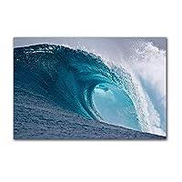 """北欧スタイルの風景キャンバスプリント海景地球壁アートポスターとプリント壁の写真リビングルームの家の装飾23.6"""" x 35.4""""(60x90cm)フレームなし"""