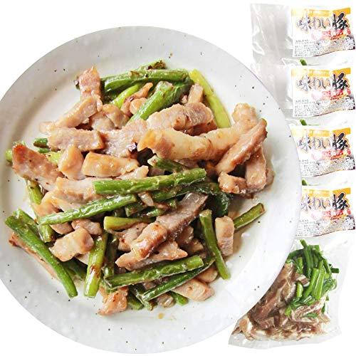 豚塩炒め にんにくの芽入り にんにく塩味 1kg (250g×4P) 焼くだけ 簡単 時短 焼肉 豚肉