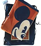 Walt Disney World Parks Mickey Mouse Throw Blanket with Matching Backpack NEW