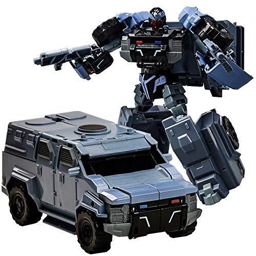 Kikioo 1:32 Deformación Robot de coches de juguete, Transformación manual por colisión Vehículo deportivo con tobogán de inercia, Mini Deform Transformer Autobots, Ingeniería Armadura Vehículo Puzzle