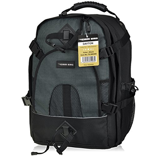 Kamerarucksack CAMBAG Fotorucksack D-SLR Laptop Rucksack Kameratasche Schwarz - Auswahl (Dayton II - Backpack XL)
