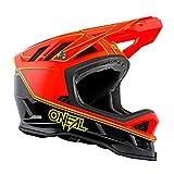 O'Neal | Casco de Bicicleta de montaña | Descenso de MTB | Forro Dri-Lex®, Aberturas de ventilación para la refrigeración | Cargador de Casco Blade HYPERLITE | Adultos | Rojo Neón | Talla S