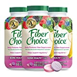 Fiber Choice Bone Health* Prebiotic Fiber Chewable Tablets, Excellent Source of Fiber, Calcium & Vitamin D3*, Sugar-Free, 1 Gastroenterologist Recommendedⱡ, Helps Support Regularity*, 90 CT (3 Pack)