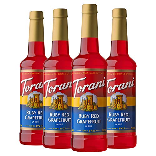 Torani Syrup, Ruby Red Grapefruit, 25.4 Ounces (Pack of 4)