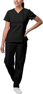 Sivvan Uniforme médico para Mujer: pantalón con Bolsillos y Top