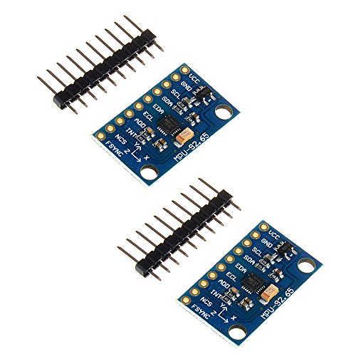 Anmbest 2PCS GY-9250 MPU9250 9-Axis 9 DOF Accelerometer, Gyroscope and Magnetometer Sensor Module 16 Bit AD Converter Data Output IIC I2C SPI