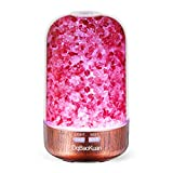 DqBaoKuan Aromatherapy Diffusers for Essential Oils with 7 Color LED Lights Changing,Aroma Humidifier Ultrasonic Diffuser and Waterless Auto Shut-Off Himalaya Salt Lamp Diffuser 120ml