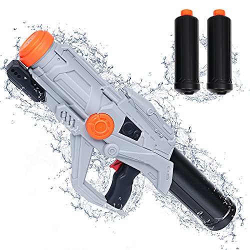 Tinleon Water Gun for Adults Kids: Super Squirt Gun Water Blaster 2250CC High-Capacity Shoots up to 36ft Long Shooting Range, Beach Party and Summer Swimming Pool