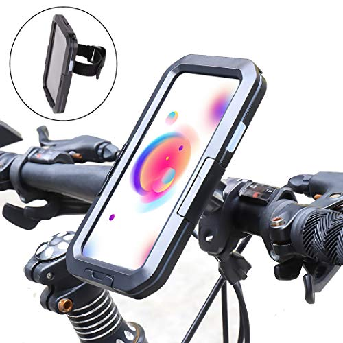Weiqiao - Funda de soporte para teléfono de bicicleta, resistente al agua, protección 360 °, rotación antipolvo, funda para iPhone X/XS iPhone 6/6S, iPhone 7/8, iPhone SE 2020