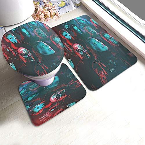 XiaLianNai-shop 3-teiliger U-Mats Teppich Rutschfester für Badewanne Slip-Knot Poster Teppiche Bettwäsche Antirutschpolster Bodentür Badewanne Deckel Kontur Teppich