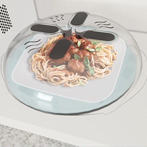New Food Splatter Microwave Hover Anti-Sputtering Cover Oven Oil Heated Sealed Plastic Cover Dish Dishes Food Cover