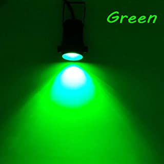 Temacylighting 2 Packs LED 6W Landscape Colors Light Input AC/DC12V-24V Outdoor Waterproof Wall& Garden &Tree Spotlights Spike Stand and Round Base Kits (Green)