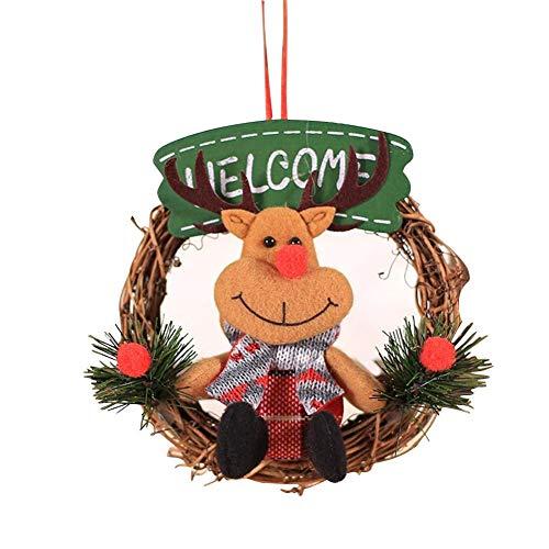 Guirnalda de Navidad PITCHBLA, guirnaldas de guirnaldas, guirnaldas pequeñas, nuevos adornos navideños creativos para puerta, ventana, centro comercial, decoración exterior