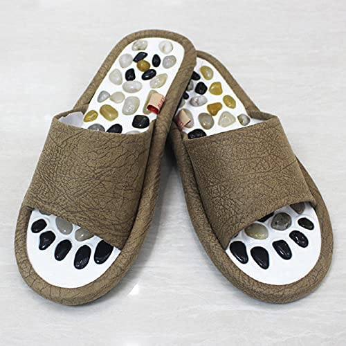 Sandalen mit Noppen,Fußmassage-Akupunktur-Hausschuhe, drinnen fingerfeste Glättungsbad Hausschuhe-Vier-Jahreszeit-Kaffee_41-42,Flops Sommer Slippers