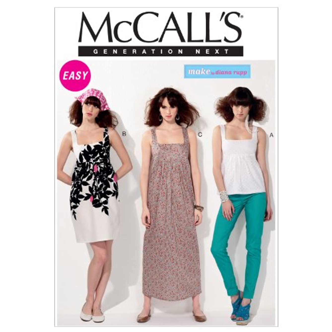 McCall's Generation Next MAKE by Diana Rupp Pattern 6560 Easy Misses Top and Dress with Variations Size 14-16-18-20-22