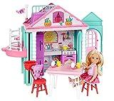 Barbie Chelsea, casa de muñecas Casita con accesorios, juguete +3...